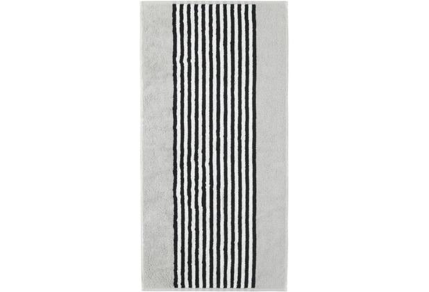 cawö Duschtuch silber 70 x 140 cm gestreift