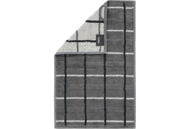 cawö Gästetuch anthrazit 30 x 50 cm, Netzmuster