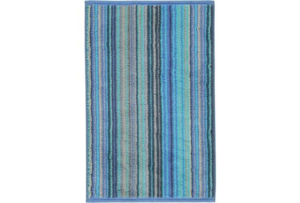 cawö Gästetuch blau 30 x 50 cm, bunte Streifen