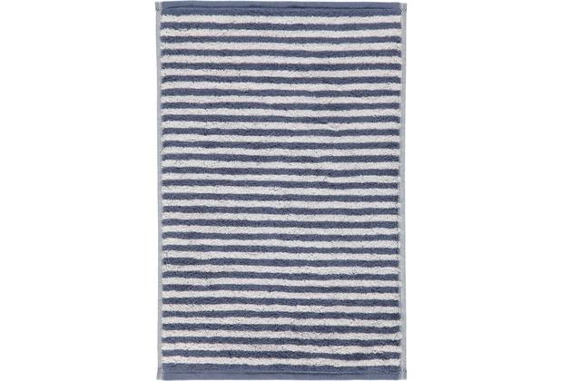 cawö Gästetuch nachtblau 30 x 50 cm, weiße Streifen