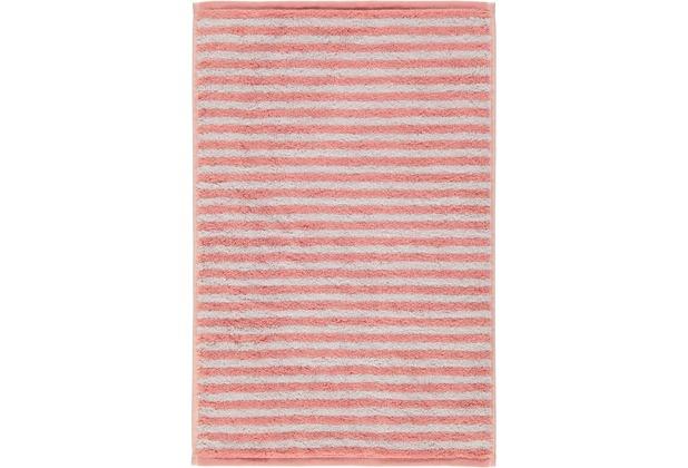 cawö Gästetuch rouge 30 x 50 cm gestreift