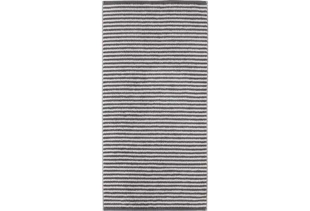 cawö Handtuch anthrazit 50 x 100 cm, Querstreifen