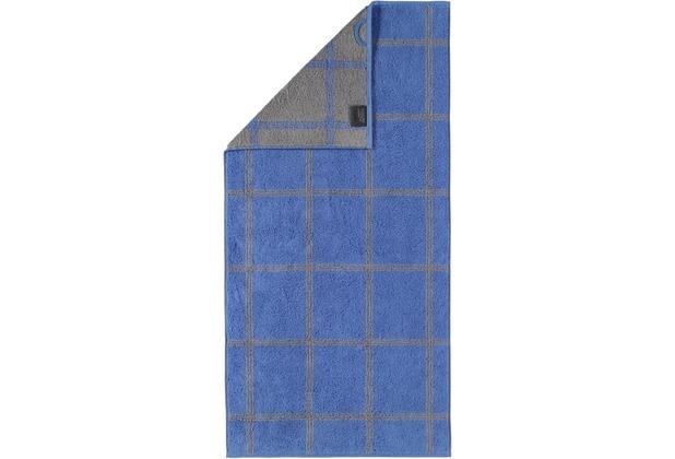 cawö Handtuch blau 50 x 100 cm, Netzmuster