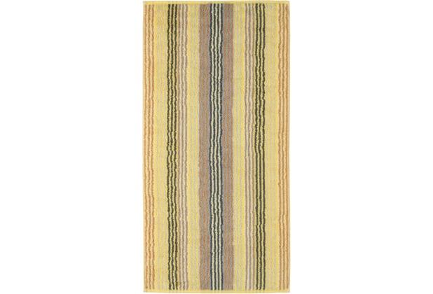 cawö Handtuch citrin 50 x 100 cm gestreift