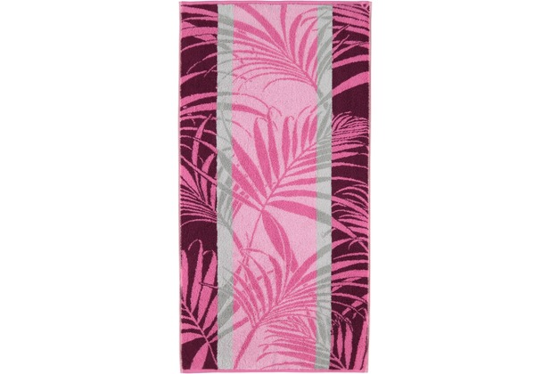 cawö Handtuch fuchsia 50 x 100 cm Palmenmuster