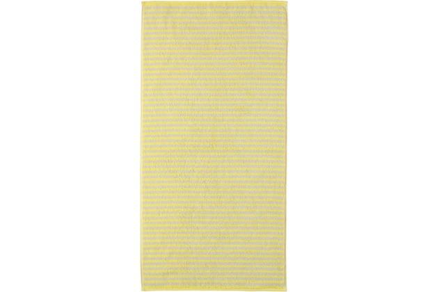 cawö Handtuch lemon 50 x 100 cm gestreift
