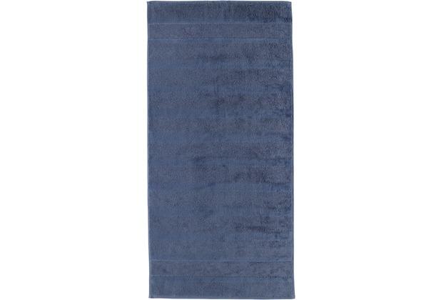 cawö Handtuch nachtblau 50 x 100 cm, Streifen