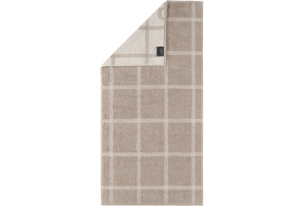cawö Handtuch sand 50 x 100 cm kariert