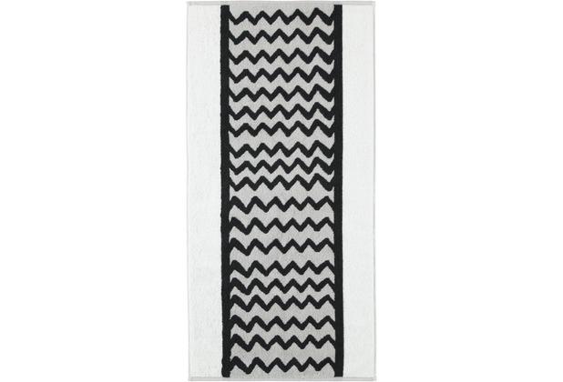 cawö Handtuch silber 50 x 100 cm Wellenmuster