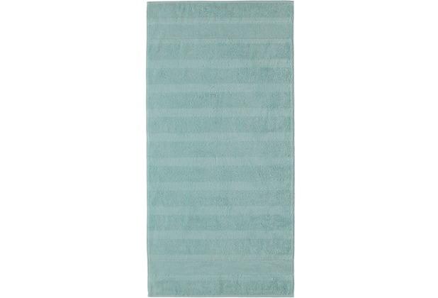 cawö Handtuch soft-türkis 50 x 100 cm horizontal gestreift