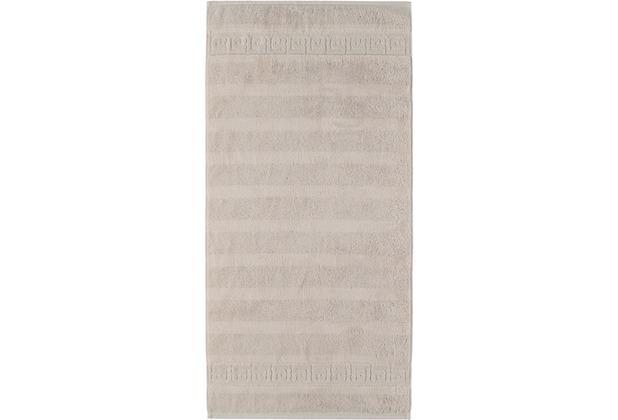 cawö Handtuch travertin 50 x 100 cm, Muster am Saum