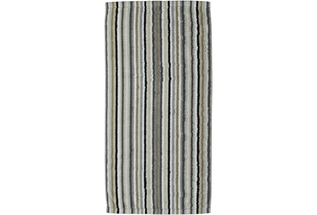cawö Lifestyle Streifen Duschtuch kiesel 70x140 cm