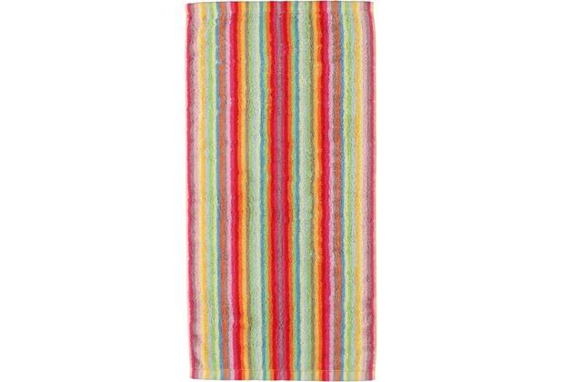 cawö Lifestyle Streifen Duschtuch multicolor 70x140 cm hell