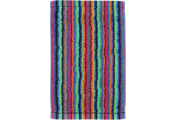 cawö Lifestyle Streifen Gästetuch multicolor 30x50 cm dunkel