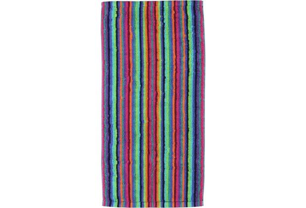 cawö Lifestyle Streifen Handtuch multicolor 50x100 cm dunkel