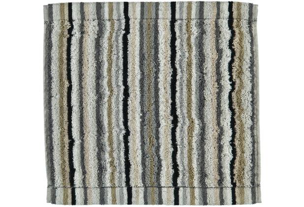 cawö Lifestyle Streifen Seiflappen kiesel 30x30 cm