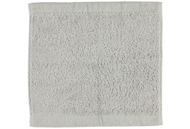 cawö Lifestyle Uni Seiflappen silber 30x30 cm