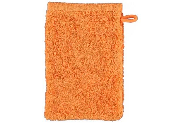 cawö Lifestyle Uni Waschhandschuh mandarine 16x22 cm