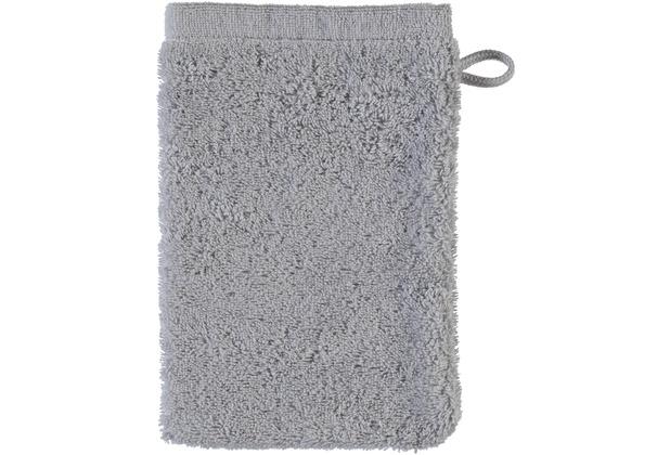cawö Lifestyle Uni Waschhandschuh platin 16x22 cm
