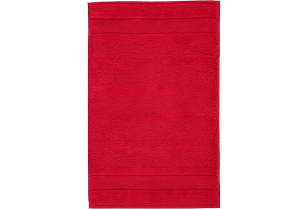 cawö Noblesse² Uni Gästetuch rot 30x50 cm