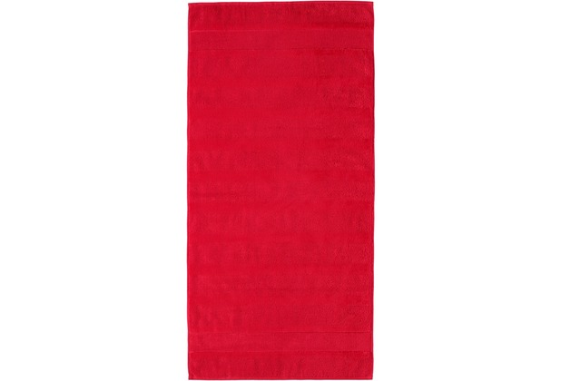 cawö Noblesse² Uni Handtuch rot 50x100 cm
