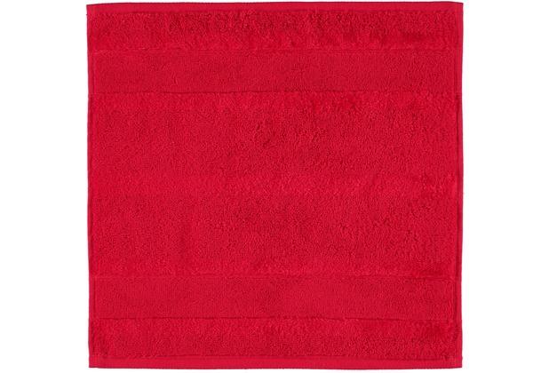 cawö Noblesse² Uni Seiflappen rot 30x30 cm