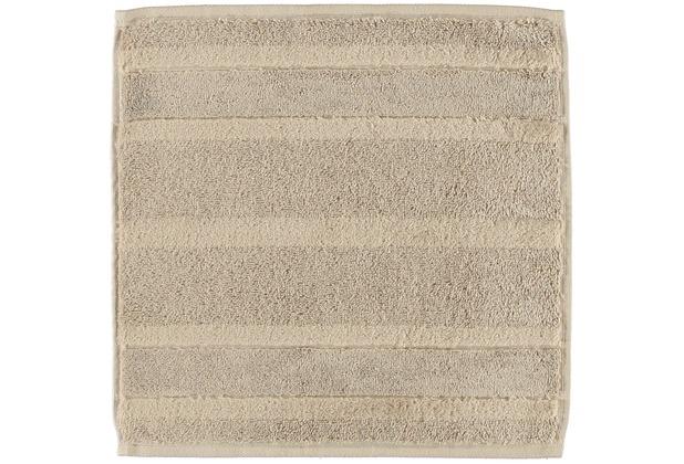 cawö Noblesse² Uni Seiflappen sand 30x30 cm