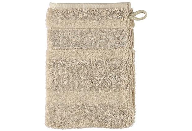 cawö Noblesse² Uni Waschhandschuh sand 16x22 cm