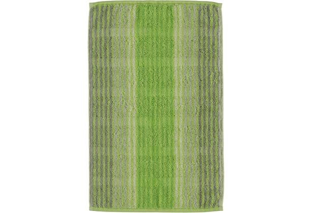cawö Noblesse Cashmere Streifen Gästetuch kiwi 30x50 cm