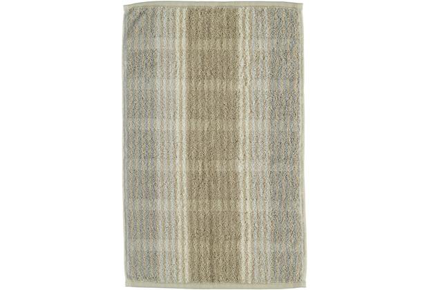 cawö Noblesse Cashmere Streifen Gästetuch sand 30x50 cm