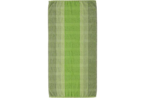 cawö Noblesse Cashmere Streifen Handtuch kiwi 50x100 cm