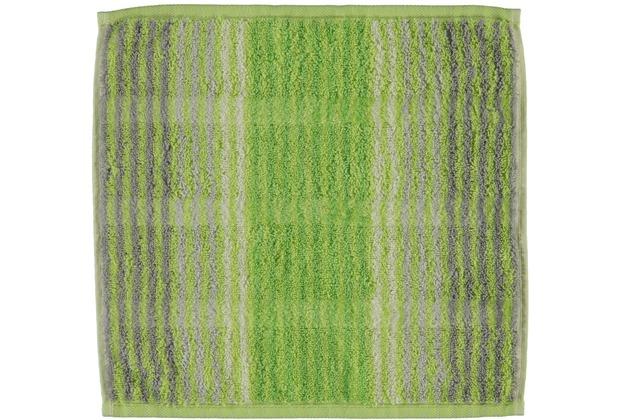 cawö Noblesse Cashmere Streifen Seiflappen kiwi 30x30 cm