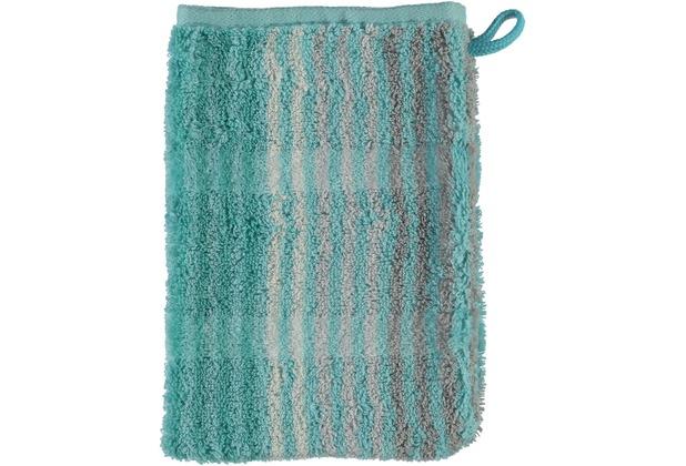 cawö Noblesse Cashmere Streifen Waschhandschuh mint 16x22 cm
