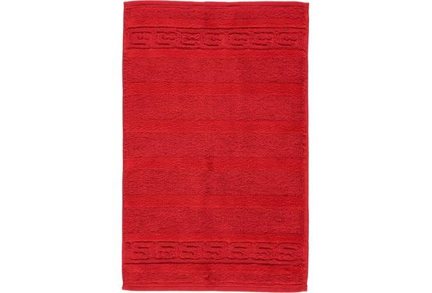cawö Noblesse Uni Gästetuch rot 30x50 cm
