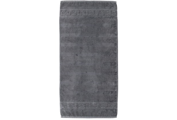 cawö Noblesse Uni Handtuch anthrazit 50x100 cm