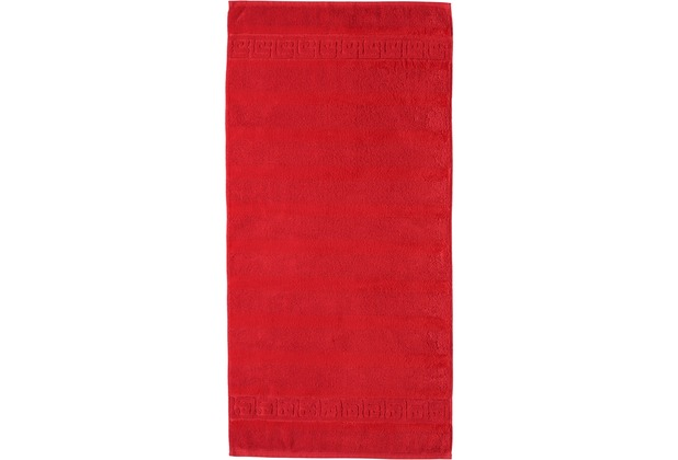 cawö Noblesse Uni Handtuch rot 50x100 cm
