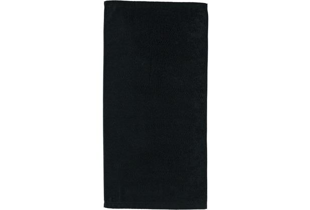 cawö Noblesse Uni Handtuch schwarz 50x100 cm