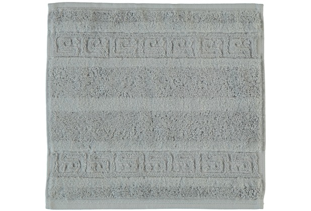 cawö Noblesse Uni Seiflappen platin 30x30 cm
