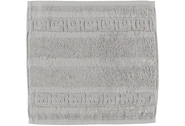 cawö Noblesse Uni Seiflappen silber 30x30 cm