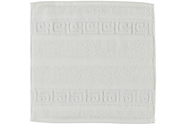 cawö Noblesse Uni Seiflappen weiß 30x30 cm