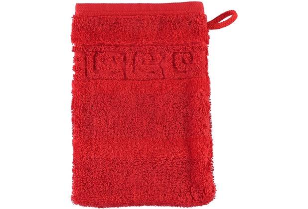 cawö Noblesse Uni Waschhandschuh rot 16x22 cm