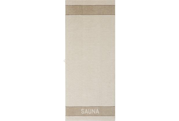 cawö Sauna Wendetuch Saunatuch natur 80x200 cm
