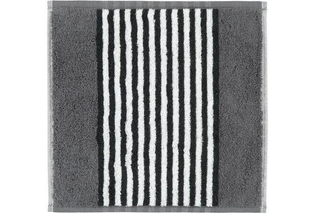 cawö Seiflappen anthrazit 30 x 30 cm vertikal gestreift