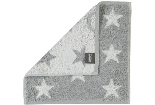 cawö Stars Small Seiflappen silber 30x30 cm