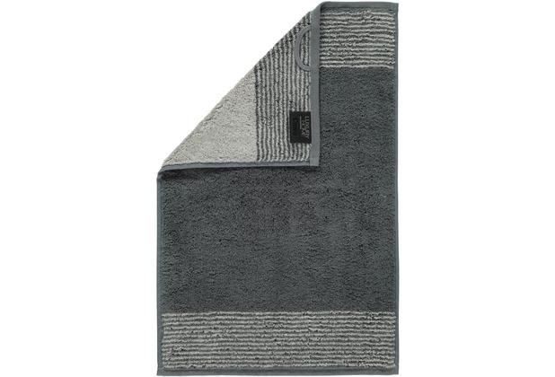 cawö Two-Tone Gästetuch schiefer 30x50 cm