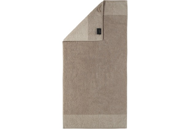cawö Two-Tone Handtuch sand 50x100 cm