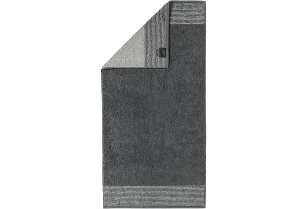 cawö Two-Tone Handtuch schiefer 50x100 cm