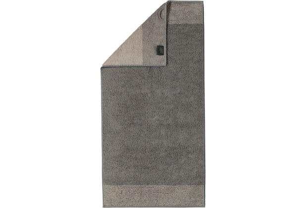 cawö Two-Tone Saunatuch graphit 80x200 cm