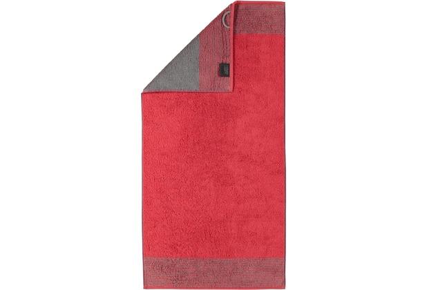 cawö Two-Tone Saunatuch rot 80x200 cm