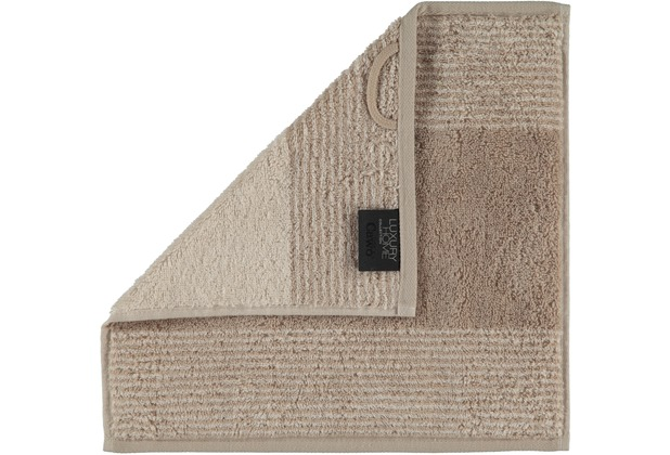 cawö Two-Tone Seiflappen sand 30x30 cm